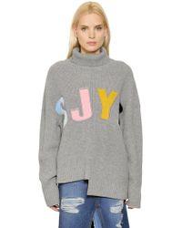 Steve J & Yoni P - Sjyp Oversized Asymmetrical Wool Sweater - Lyst