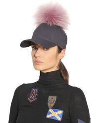 Mr & Mrs Italy - Murmansky Fur Pompom Cotton Hat - Lyst