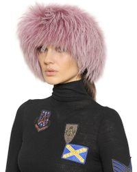 Mr & Mrs Italy - Murmansky Fur Headband - Lyst