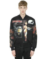 Givenchy - Heavy Metal Cotton Fleece Bomber Jacket - Lyst