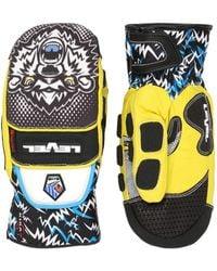 Level World Cup Cf Leather Ski Mitt Gloves - Yellow
