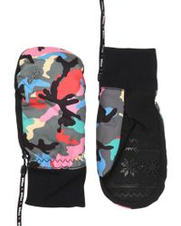 Level - Bliss Coral Printed Ski Mittens - Lyst