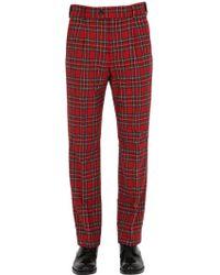 Gucci 22.5cm Plaid Wool Blend Pajama Pants - Multicolor