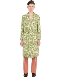 Gucci - Raw Hem Techno Cotton Jacquard Coat - Lyst