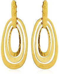 Herve Van Der Straeten Intemporelle Rounded Square Earrings - Metallic