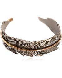 HTC Hollywood Trading Company - Feather Metal Cuff Bracelet - Lyst