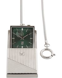 March LA.B Travel Clock With Engraved Case - Green