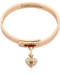 Juicy Couture - Embellished Heart Charm Bracelet - Lyst