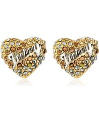 Juicy Couture - Gradient Heart Stud Earrings - Lyst