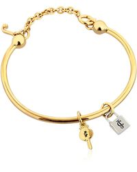 Juicy Couture - Lock & Key Charm Bangle Bracelet - Lyst