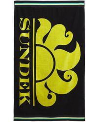 Sundek Пляжное Полотенце С Логотипом - Черный