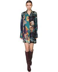 Ferragamo Короткое Платье-рубашка - Многоцветный