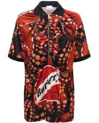 Burberry ストレッチジャージーtシャツ - レッド