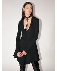 Mugler ビスコースブレンドミニドレス - ブラック