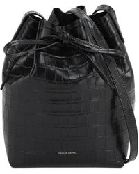 Mansur Gavriel Mini Bucket Bag - Black