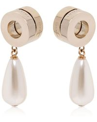 Givenchy - Resin Pearl Pendant & Metal Earrings - Lyst