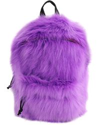 Vetements Small Faux Fur Backpack - Lila