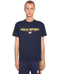 "Polo Ralph Lauren T-shirt Aus Nylon ""polo Sports"" - Blau"