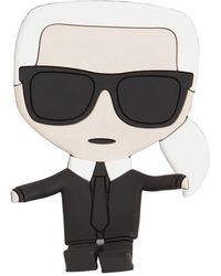 Karl Lagerfeld Iconic Karl 携帯電話ホルダー - ブラック