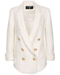Balmain ツイードジャケット - ホワイト