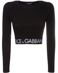 Dolce & Gabbana T-shirt Court En Jersey De Coton - Noir