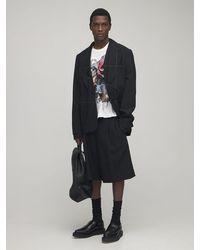 Comme des Garçons George Cox Asymmetric Leather Shoes - Black