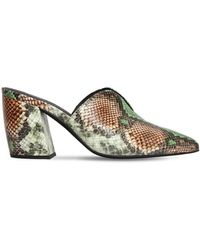 Jeffrey Campbell 80mm Snake Print Leather Mules - Multicolour