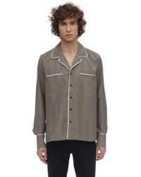 Rhude ビスコースブレンドスモーキングシャツ - ブラウン