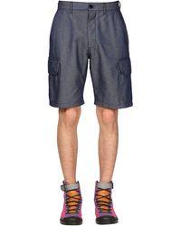 Loewe Eye//nature Tech Cargo Shorts - Blue