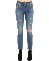 "Levi's Enge Jeans Aus Baumwolldenim ""501"" - Blau"