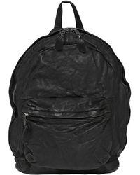 Giorgio Brato Washed Nappa Backpack - Black