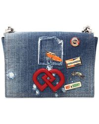 DSquared² Dd Denim Patch Shoulder Bag - Blue