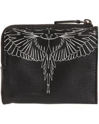 Marcelo Burlon Asier Printed Leather Wallet - Black