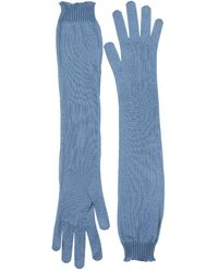 Rochas - Silk Knit Long Gloves - Lyst