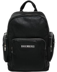 Bikkembergs - Faux Leather Backpack - Lyst