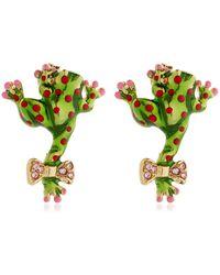 Casadei - Amazon Jungle Earrings - Lyst