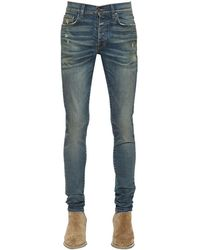 "Amiri 15cm Jeans Aus Baumwolldenim ""stack"" - Blau"