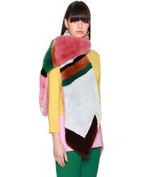 Marni Rabbit Fur Stole - Multicolour