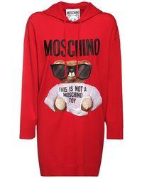 Moschino Bear コットンニットドレス - レッド