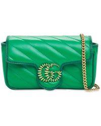 Gucci Сумка Gg Super Mini Marmont - Зеленый