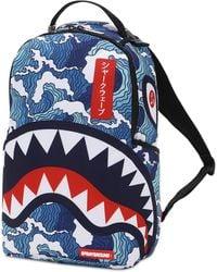 """Sprayground Rucksack """"shark Wave"""" - Blau"""