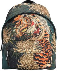 DSquared² Rucksack Aus Technostoff Mit Tigerdruck - Mehrfarbig