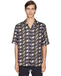 Versace プリントシャツ - ブラック