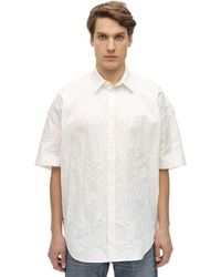 Balenciaga オーバーサイズコットンシャツ - ホワイト