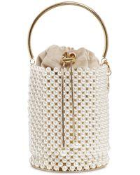 Rosantica Febe Embellished Bucket Bag - White