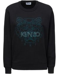 KENZO Tiger コットンスウェットシャツ - ブラック