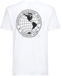 Vans National Geographic ジャージーtシャツ - ホワイト