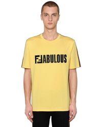 """Fendi T-shirt """"fabulous"""" In Jersey - Multicolore"""