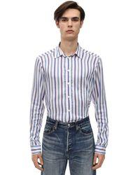 Faith Connexion Striped Viscose Poplin Shirt - Blau