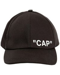 "Off-White c/o Virgil Abloh - ""cap"" Printed Canvas Baseball Hat - Lyst"